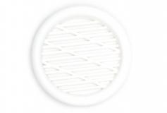 Lüftungsgitter Weiss 43mm