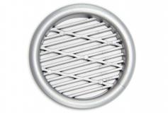 Lüftungsgitter Silber 43mm