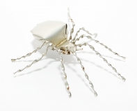 Blechinsekt Spinne silber