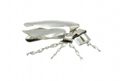 Blechinsekt Kakerlake silber