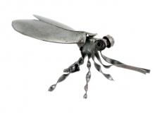 Blechinsekt Fliege schwarz
