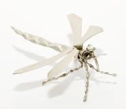 Blechinsekt Libelle silber