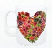 Kaffeebecher Bromelien Herz